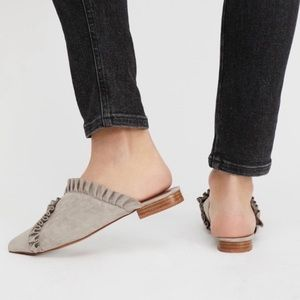 Jeffrey Campbell Suede Cleo Ruffle Flat